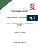 2051449 Analisis Estrategico de La Empresa Servinext SA de CV