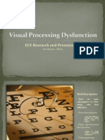 Visual Processing Dysfunction