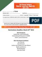 Sudbury SJA Nominations