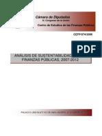 Leer y Ensayo-Analisis de Sustentabilidad de Las Finanzas Publicas 2007 Al 2012 (1)