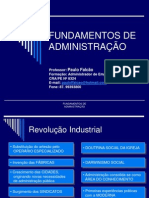 FUNDAMENTOS DE ADMINISTRAÇÃO 2013.1 - 1ª parte