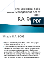 Philippine Ecological Solid Waste Management Act of 2000.Presentation