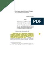 Adriana Piscitelli - Tradiçao oral - memoria e genero