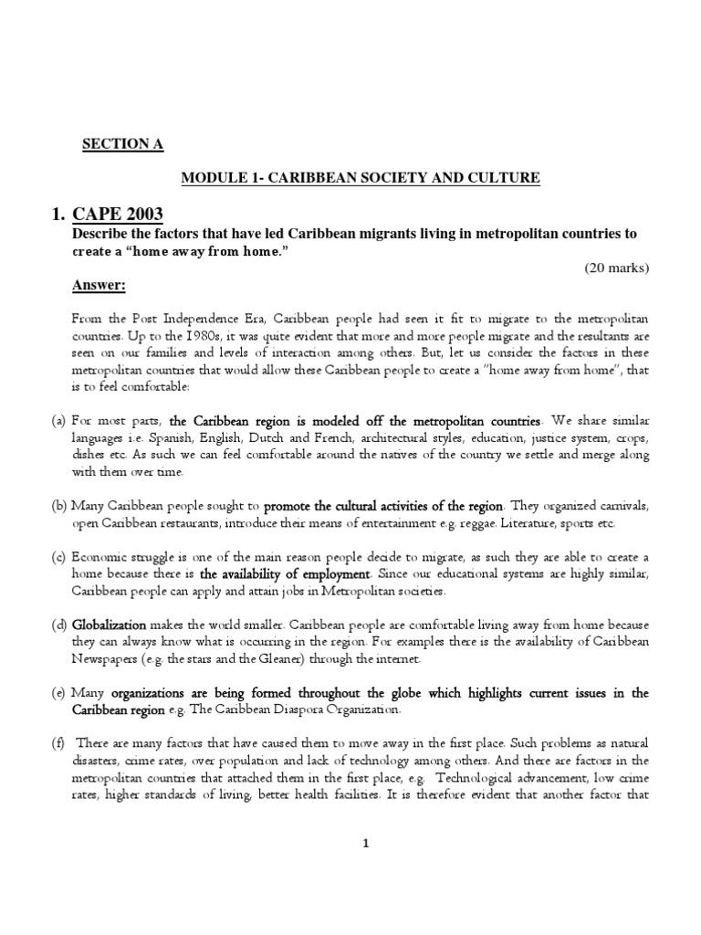 Carib Stu S Past Papers Answers Resource