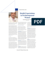 health expectations in perimenopause women
