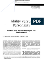 Ability vs Personality in Employee Job Perf