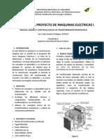 Informe Final Construccion Trasfo