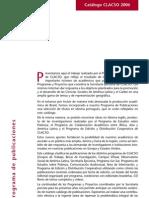 Catalogo CLACSO-2006