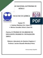 Practica 2 Organica Cristalizacion Simple
