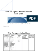 Lean Six Sigma How to Conduct a Lean Event
