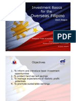 Investment Briefing for Filipinos Overseas - PTIC Brussels