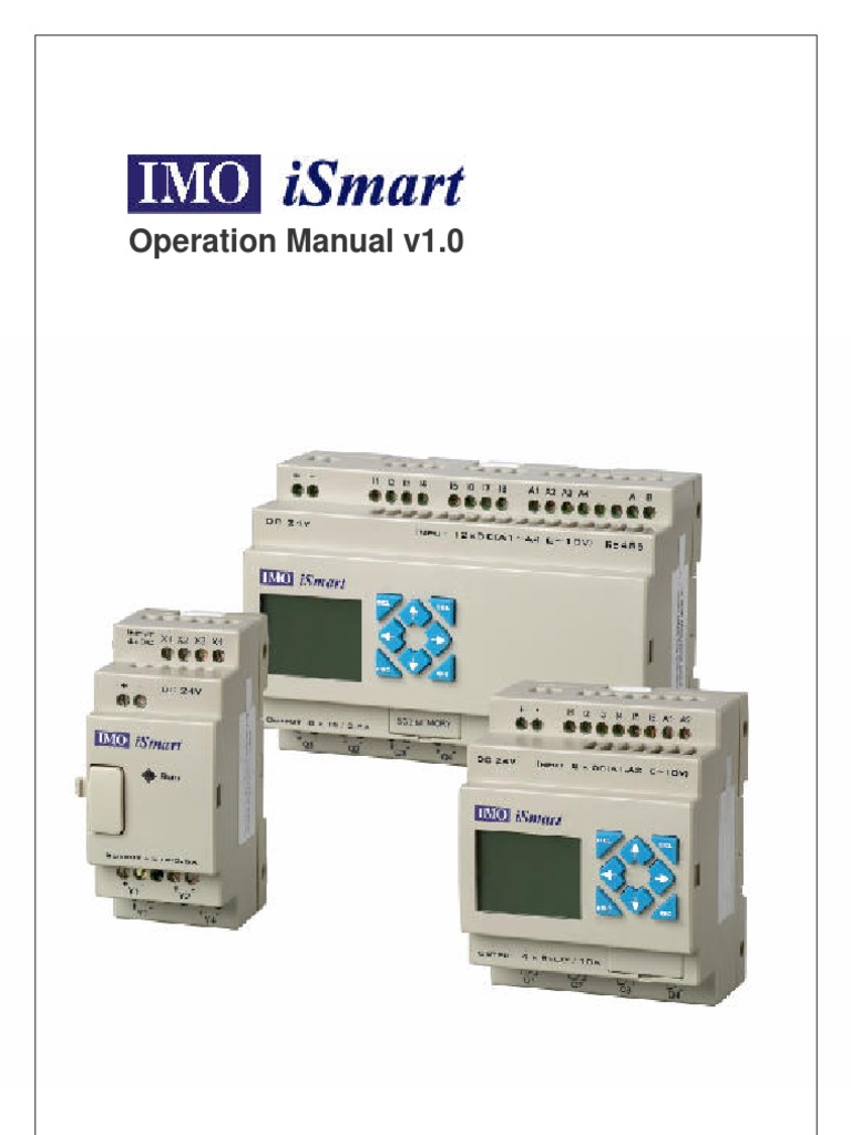Ismart Operation Manual Power Supply Electrical Wiring Imo Relay Diagram