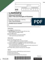 Edexcel AS chemistry Unit 1 Jan 2013
