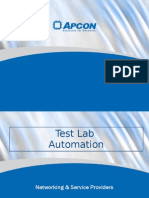 APCON, Inc.Telecom, Test Lab Automation
