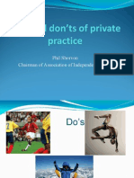 Do's and Don'ts of Private Practice