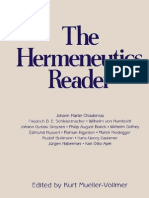 MUELLER-VOLLMER, Kurt the Hermeneutics Reader