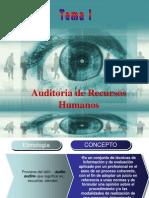 Auditoria de Recursos Humanos Tema I