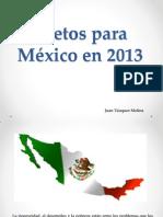 8 retos para México en 2013