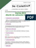 1 Folha Do Calendario Vacinal-Vacina BCG