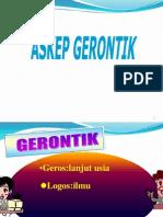 Asuhan keperawatan  Gerontik
