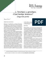 Biotipos Fenotipos y Genotipos