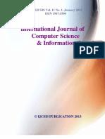 Journal of Computer Science IJCSIS Vol. 11 No. 1 January 2013