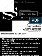 Customer Relationship Management on shoppers stop
