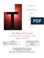 St. Rita Parish Bulletin 3/10/2013