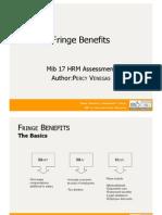 Fringe Benefits - Organization Design