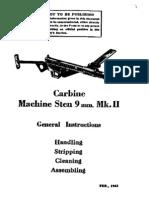 british sten mk ii carbine 9mm