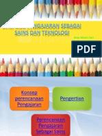perencanaan pengajaran sebagai sains dan teknologi