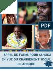 Appel de Fonds Pour Ashoka en Vue du Changement Social en Afrique