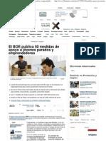 El BOE publica 50 medidas de apoyo a jóvenes parados y emprendedores - 20minutos
