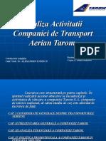 60191609 Analiza Activitatii Companiei de Transport Aerian Tarom