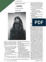 Annie Baker, The Flick,  New Yorker Interview