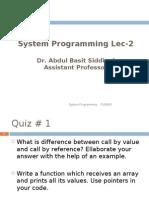 Lec Week2 Function Pointers