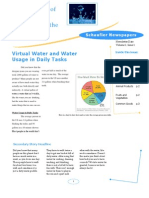 Virtual Water Literally Flushing Down the Toilet