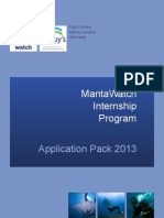 MantaWatch Internship Program - Application Pack 2013