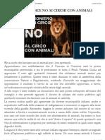 Cormons (Go) Dice No Ai Circhi Con Animali