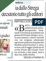 Emanuele Trevi, perché mi autosospendo dal premio Strega - La Repubblica 12.03.2013