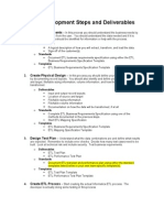 ETL Process Definitions and Deliverables