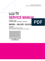 LCD TV LG 26LC2R Service Manual