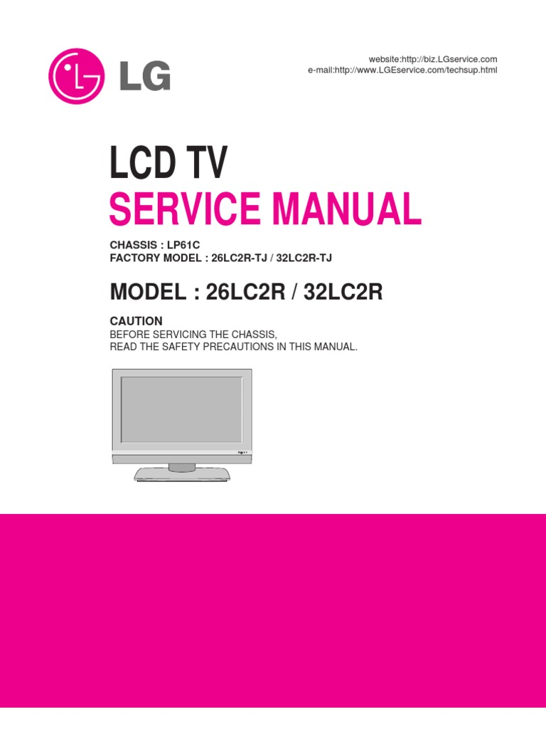 lcd tv lg 26lc2r service manual soldering resistor rh scribd com lg lcd service manual lg lcd service manual
