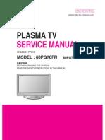 ServiceManuals LG TV PLASMA 60PG70FR 60PG70FR Service Manual
