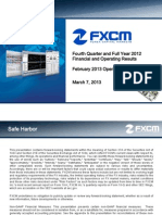 FXCM Fourth Quarter 2012 Earnings Presentation
