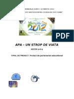 Proiect Ziua Apei