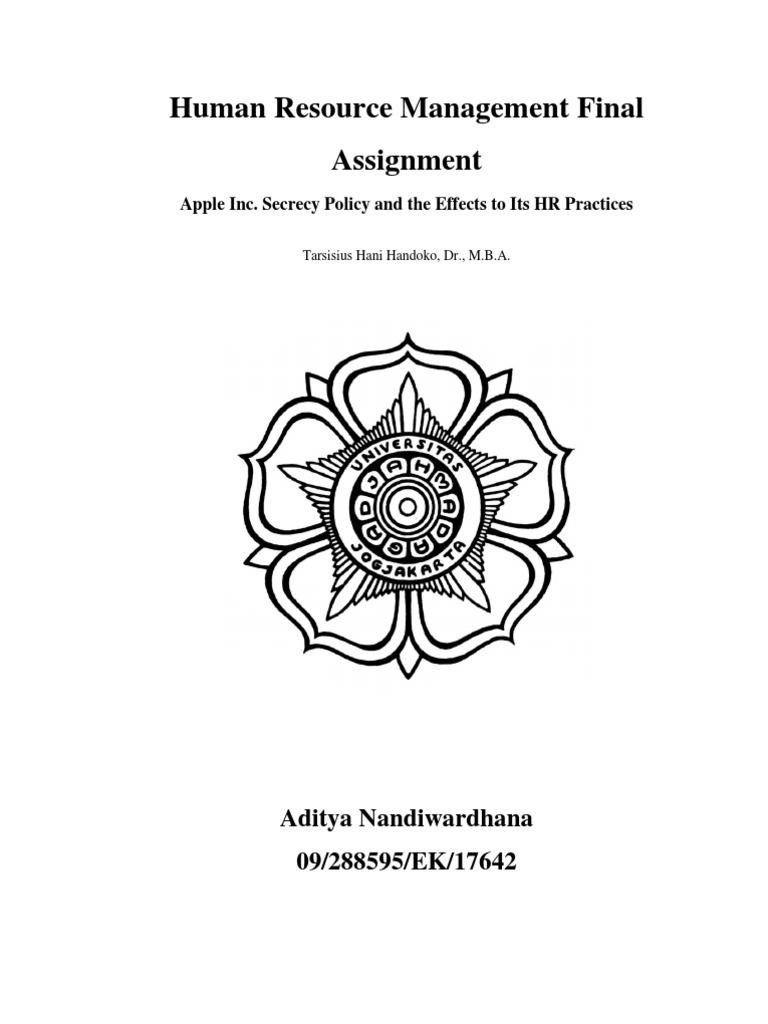 hrm final ass apple human resource management assesment apple hrm final ass apple human resource management assesment apple inc performance appraisal