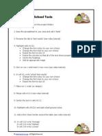 Spreadsheet Lesson 2 Task