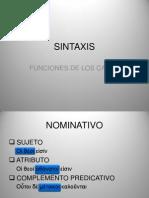 SINTAXIS. FUNCIONES DE LOS CASOS.pptx