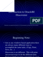 Oracle BI DiscovererTraining